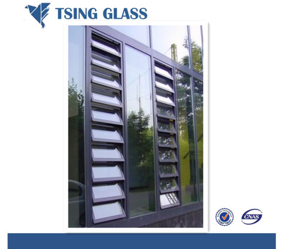 6mm Clear/Frosted/Patterned/Tempered Louver Glass for Window