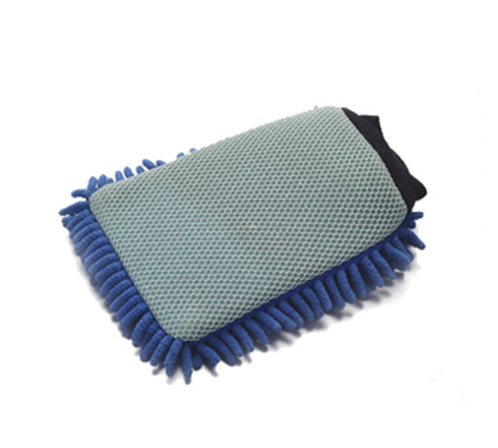 Single Side Chenille & Netted Cloth Car Cleaning Glove 2004