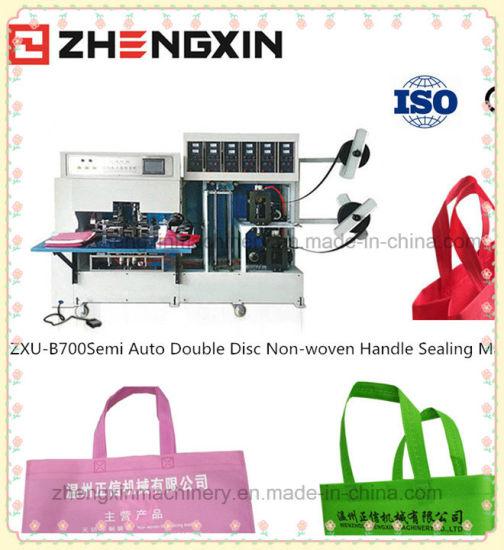 Double Sheets&Semi Auto Non Woven Handle Sealing Machine Zxu-B700