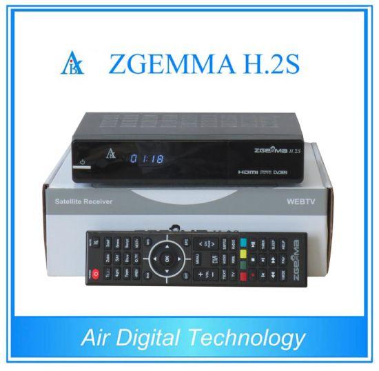 Zgemma H  2s Enigma2 Linux Sky TV Box Twin Tuner HD DVB S/S2 Satellite TV  Receiver Box