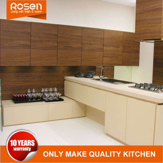 High Quality PVC Creamy White Online Kitchen Cabinets Furniture