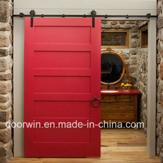 China North America Hot Sale Soundproof Sliding Barn Door Solid Pine
