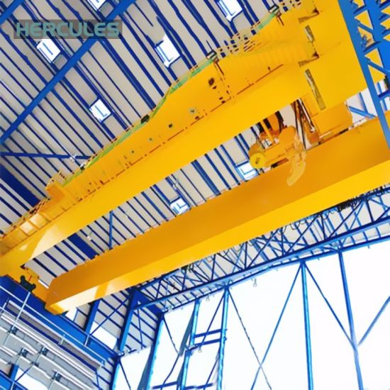 10~100t Workshop Double Beam Bridge Crane with Grab pictures & photos