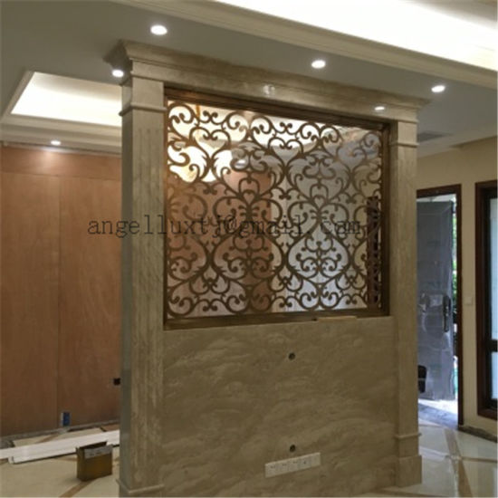 living room partition. Villa Living Room Divider Screen Landing Partition Satin or Mirror  Color Finish Stainless Steel China