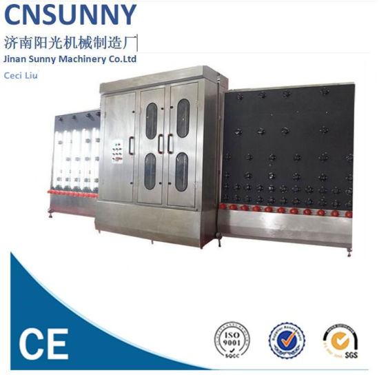Ce Open Top Automatic Vertical Flat Float Glass Glazing Washing and Dry Machine