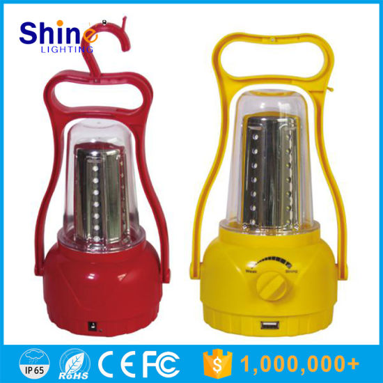 Portable High Power LED Camping Light Emergency Solar Lantern