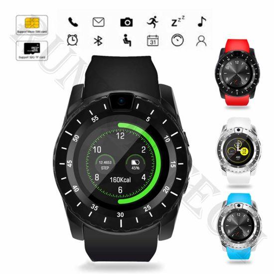 V88 SIM Card Bluetooth Wristwatch Touch Screen Smart Watch for Phones