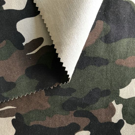 Weft Stretch Twill Cotton Woven Printed Camouflage Fabric for Garment
