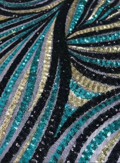 Sequin on Mesh Different Design and Color pictures & photos