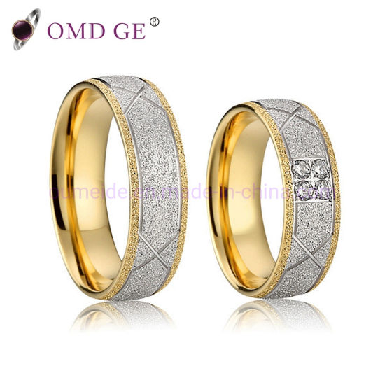 China Classic Shining Diamond Couple Rings Inside Gold Plating With Silver Color Engagement Rings China Diamond Ring And Wedding Rings Price