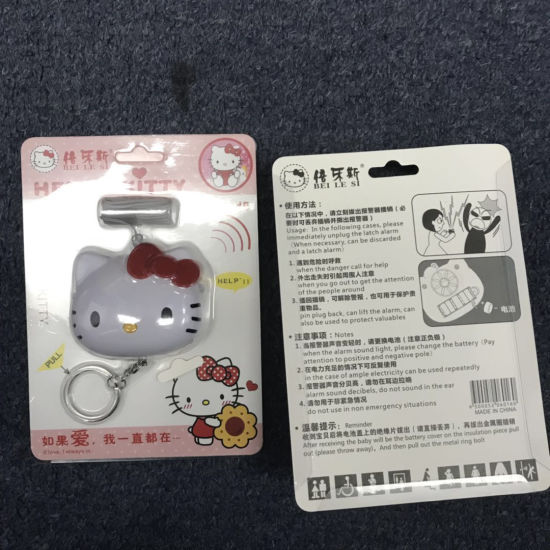 China Factory Supply Hello Kitty Person Alarm High Sound 140db For