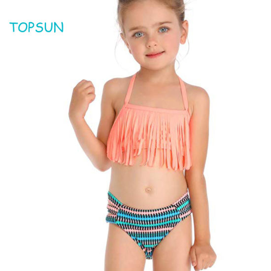 Little Girl Summer Unicorn Swimsuit Flower Bikini Top High Waist Bottoms Two Piece Tankini Beachwear Bathing Suit