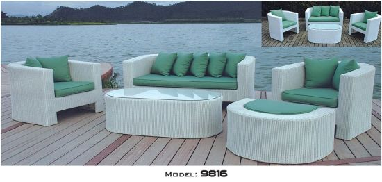 Wholesale Outdoor Furniture Wicker Woven Sofa Collection Outdoor Braiding Sofa