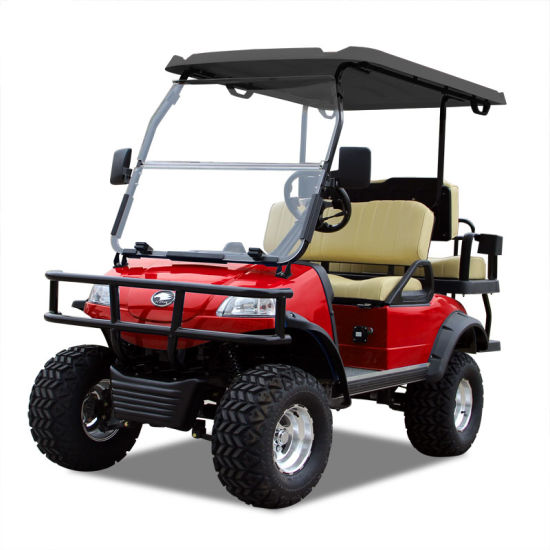 Electric Buggy Golf Cart Hunting Car (DEL2022D2Z, red) Blackroof