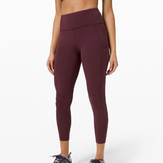 Custom Logo Soft Double Side Fabric Gym Wear High Waist Women Yoga Sports Leggings