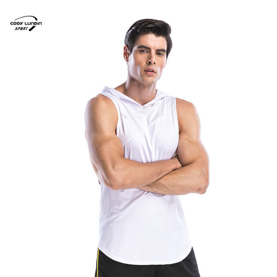 Cody Lundin Fashion Style Mens Gym Vest Printed Cotton Loose Tank Top Breathable Quick Dry Running Training Sleeveless T-Shirt