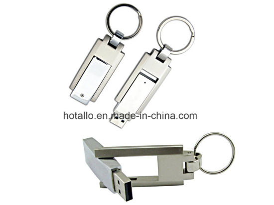 Swivel Metal Keychain USB Flash Drive Disk