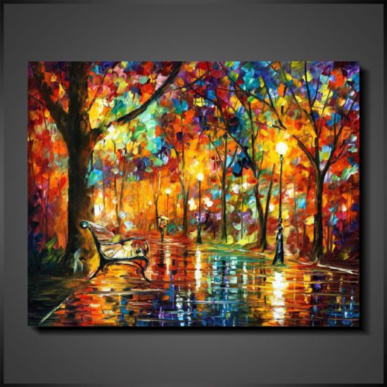 Handmade Palette Knife Modern Oil Painting on Canvas pictures & photos