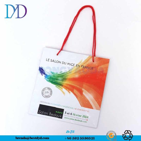 Manufacture Wholesale Custom Advertising Promotion Paper Shopping Bag