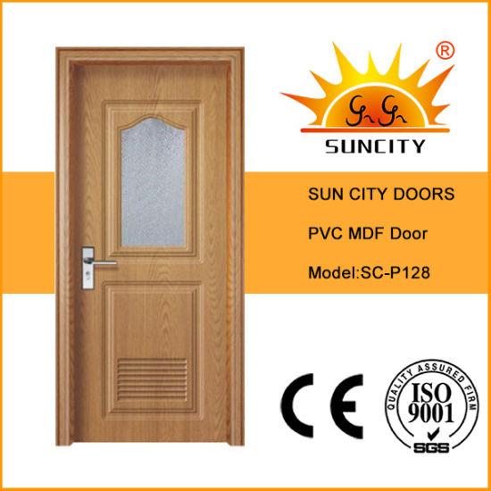 New Design Hotel PVC Patio Wood Framed Sliding Glass Door