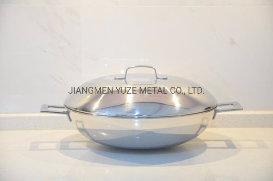 Clearance Sales! Stainless Steel Wok, Chinese Wok with Lid, Kitchen Utensils, Home Appliance