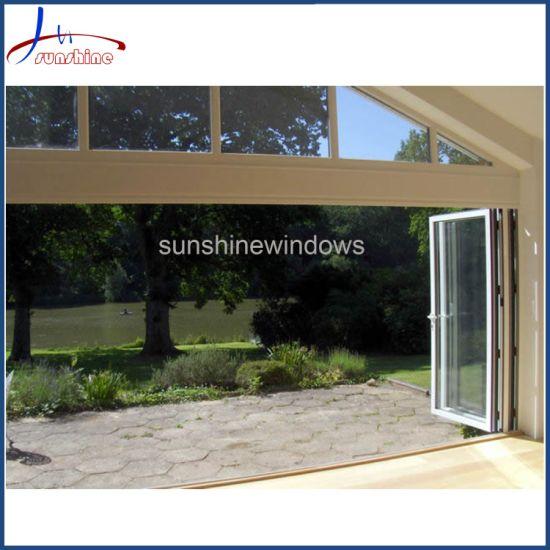 Double Glazing Aluminum Sliding Lifting/Bi Folding Door for Residential Building Aluminium Bi Fold Door