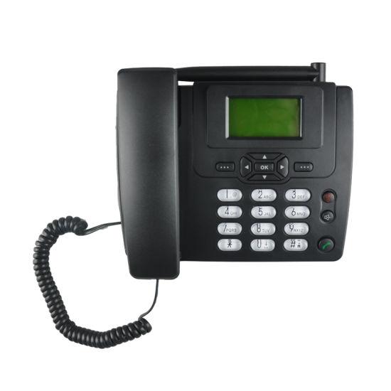 Manufacturer GSM Fixed Wireless Phone FM Radio SIM Card GSM Desk Phone