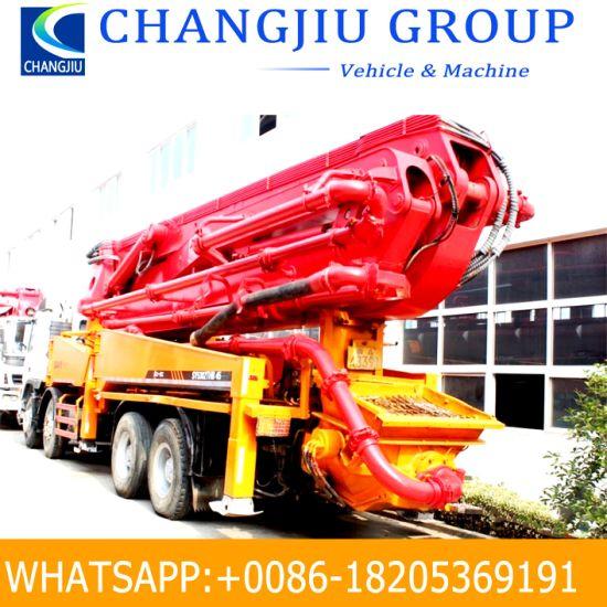 Used High Quality 25m-42m Boom Concrete Pump Truck Benz Volvo, Isuzu Chassis