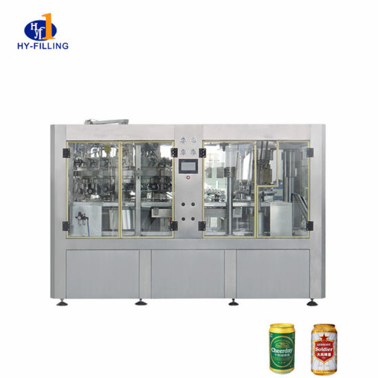 Wholesale Rotating Carbonated Beverages Liquid Aluminum Beer Can Automatic Packing Filling Machine
