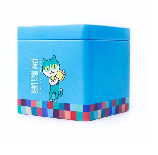 China Factory Sale Square Colorful Tin Box Package Gift Tin Can pictures & photos