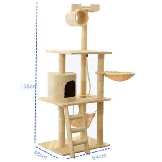 China Cat Tree Scratching Post Climbing Activity Centre Sisal Bed