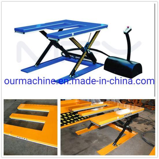 Material Handling Equipment E Shape Pallet Scissor Lift Table He1000