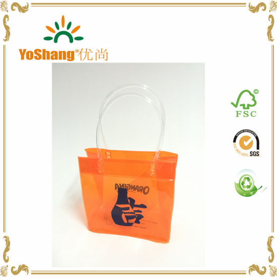 New Arrival Custom Made Clear Convenient Colorful Heavy- Duty PVC Wine Cooler Bag pictures & photos
