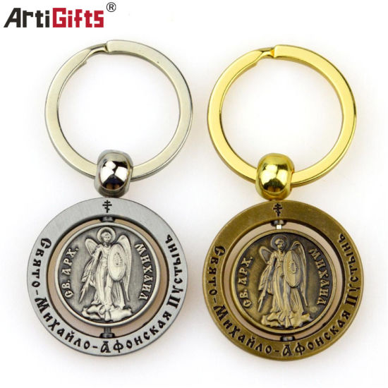 Wholesale Customized Make You Own Logo Metal 3D Keychain