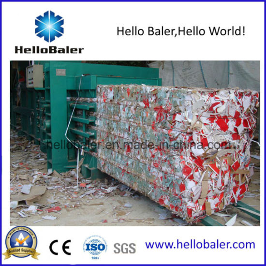 Hellobaler Semi-Automatic Paper Bailing Machine with Conveyor pictures & photos