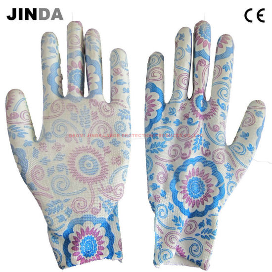 PU Coated Gardening Work Gloves (PU009)