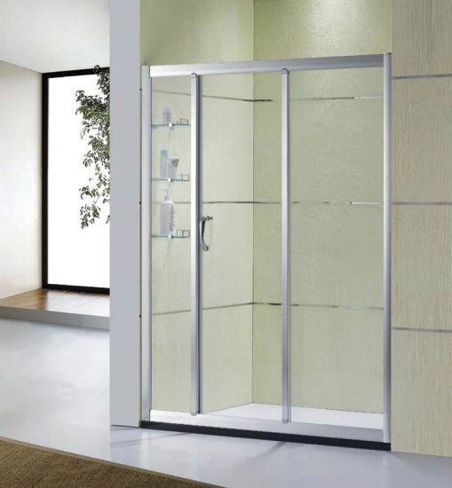 China Sanitary Wares Bathroom Tempered Glass Sliding Door Shower