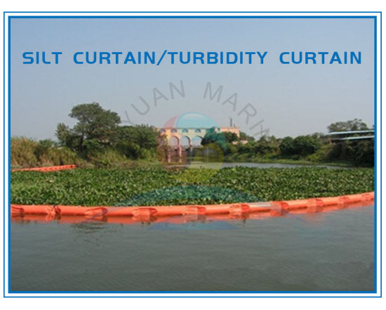 China Permeable Floating Silt Curtain For Turbidity Control In
