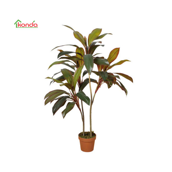 Artificial Green Plant Cordyline Fruticosa with Pot Decoration for Office Home Decor