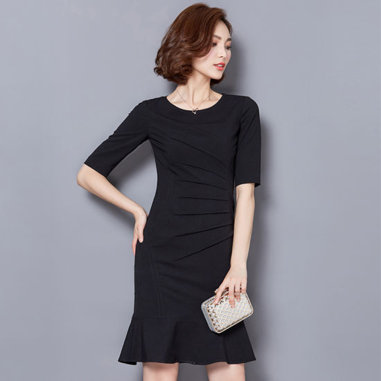 075c588be6ba Latest Designs Ladies Slim Fit Red Women′s Career Dress pictures & photos