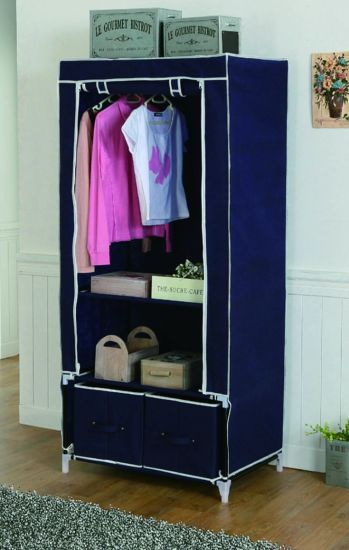 Metal Frame Fabric House Wardrobe pictures & photos