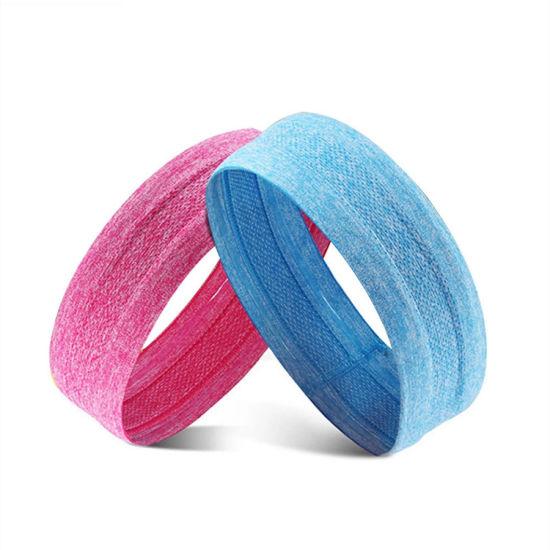Unisex Slip Stretchy Athletic Custom Sweatband Elastic Yoga Head Bands