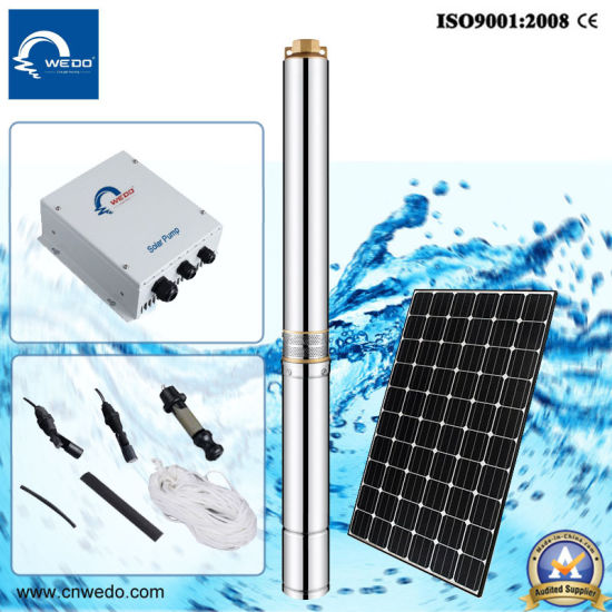 DC Solar Power Submersible Water Pump Oil Filled Type 4qgd pictures & photos