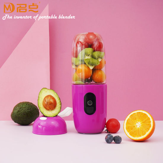 Electric Stainless Steel with 6 Blades Portable Cup USB Charging Fruit Juicer Blender