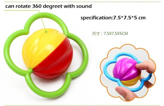 2015 Newest 3 PCS Plastic Baby Rattle Ring Bell (10220300) pictures & photos
