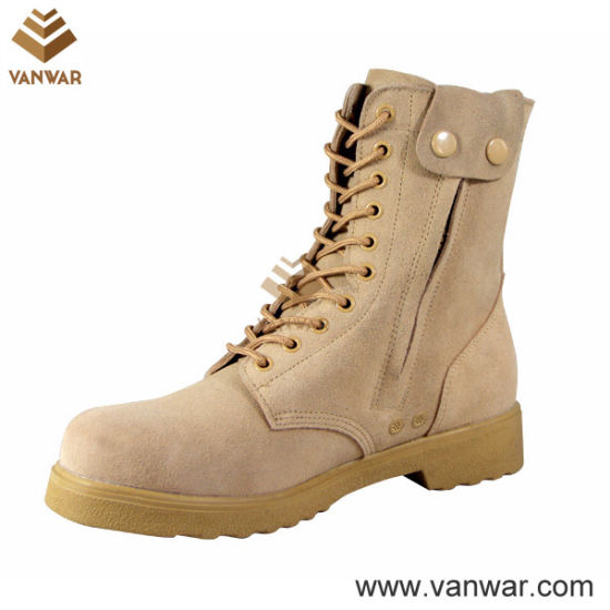 Comfortable Button Closure Military Desert Boots (WDB032)