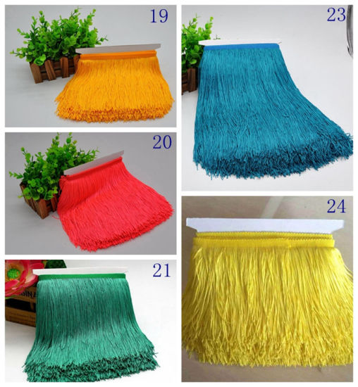 High Quality Fashion 15cm Fringe Trim for Decoration