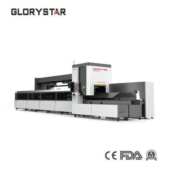 3 Cartridge Square Tube Fiber Optic Laser Cutting Machine for Aerospace Devices