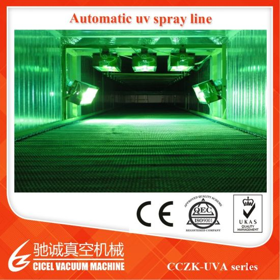 China Gun-Fixed UV Varnish Plastic Automatic Painting Line Vacuum