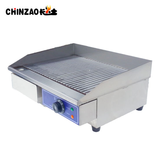 China Commercial Kitchen Flat Hotplate Grill BBQ Teppanya Electric ...